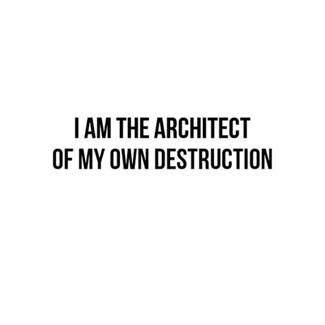 a of my own i am the architect of my own design