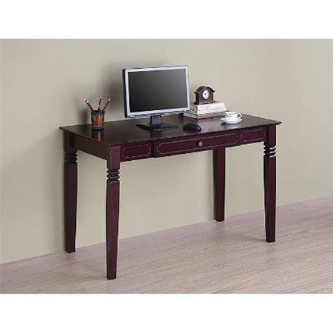 Walker Edison Elegant Wood Writing Desk Walnut Dw48s30wb Walker Edison Desk