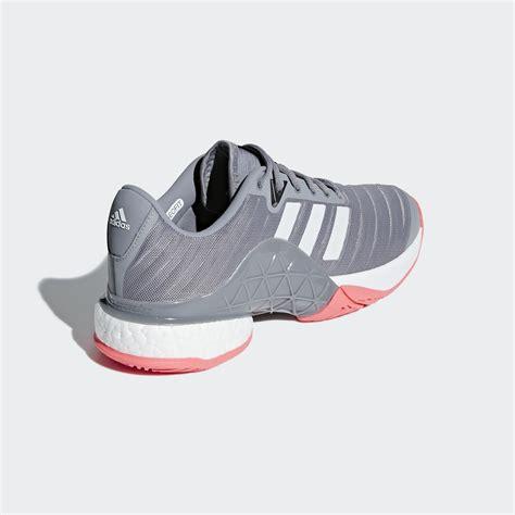 adidas mens barricade code boost 2018 tennis shoes matte silver scarlet tennisnuts