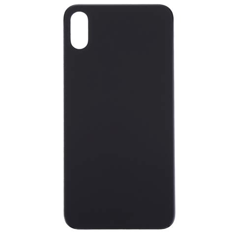 glass battery back cover for iphone xs max black alexnld