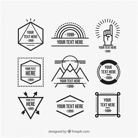 hipster tattoo font generator geometric hipster logos vector premium download