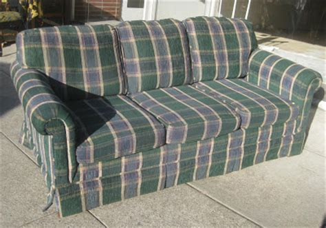 plaid sleeper sofa uhuru furniture collectibles sold plaid sofabed 100