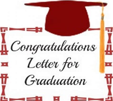 College Graduation Letter Congratulations Congratulation Letter For Graduation