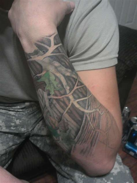 camo tattoo sleeve oak tree tattoos for mossy oak new up tatto