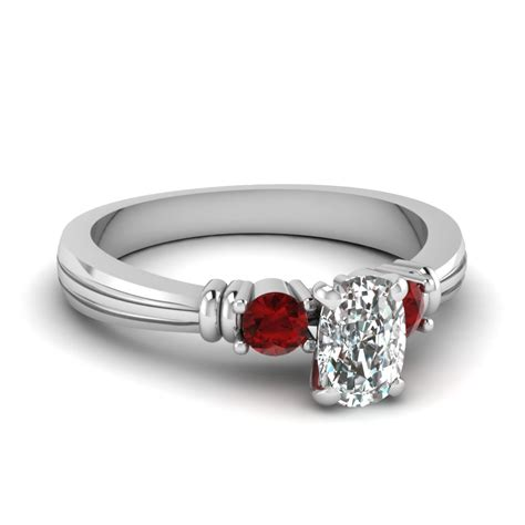 cheap 3 cushion cut engagement rings fascinating