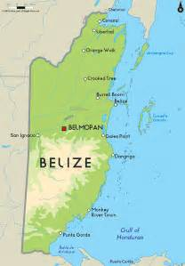 map of belize belize frb