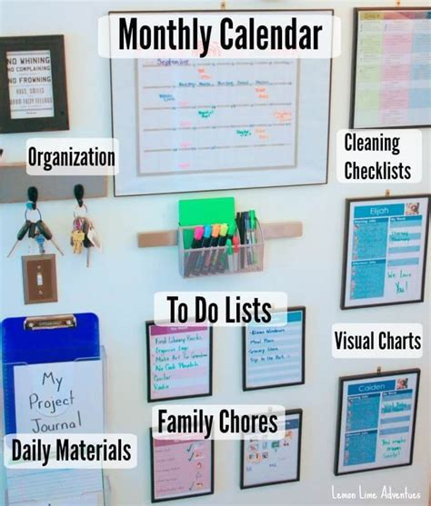 family organization organizing with a family command center