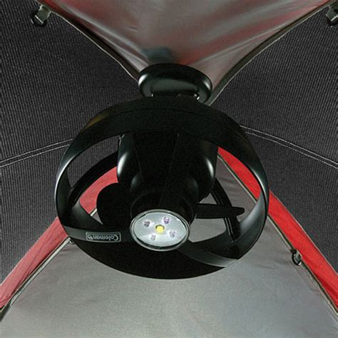 battery powered tent fan coleman cool zephyr tent ceiling fan and led light the