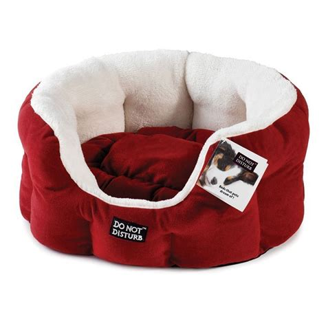 red dog bed do not disturb luxury oval dog bed red ebay
