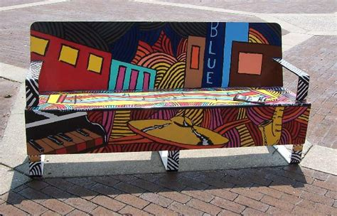 musical bench quot art on the bench quot local artists bring color to hickory nc part 1