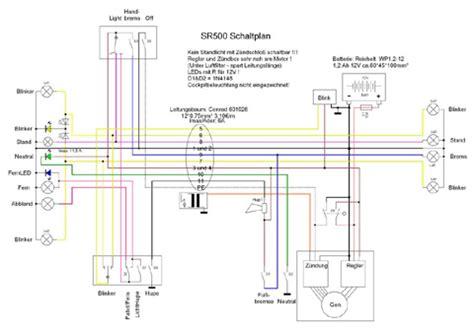 Motorrad Batterie Schaltung by Sr 500 Elektrik