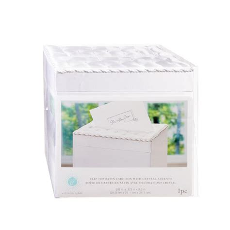 wedding reception card boxes wedding reception card box tufted white satin with crystals