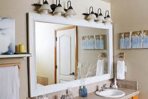 diy bathroom mirror frame bathroom mirror frame diy diy pinterest