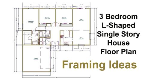 l shaped house floor plans three bedroom floor plan for l shaped house framing ideas