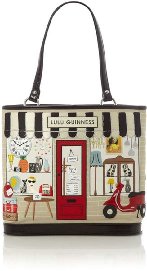 Lulu Guinness Hotel Large Edith by Lulu Guinness Large Edith Shop Tote Bag In Multicolor