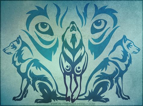 wolf pack tribal by nathalienova on deviantart