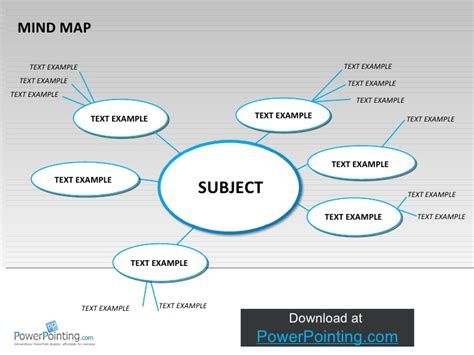 mind map template powerpoint free powerpoint mind map