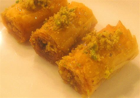 Arabic Sweet Baklava Roll Mixnut easy to make lebanese baklava rolls recipe lebanese recipes