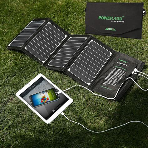 solar power battery charger portable foldable 5v 20w solar panel 2 usb external