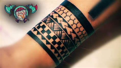 maori bracelet tattoo time lapse loktar tattoo timisoara