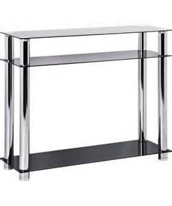 Argos Console Table Hygena Matrix Console Table Black Glass
