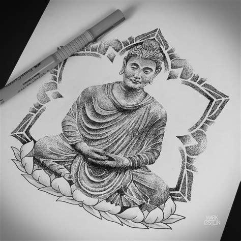 buddha mandala tattoo dotwork buddha buddhatattoo mandala lotus