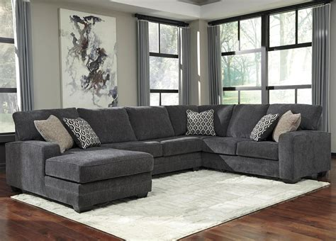 contemporary sectionals with chaise benchcraft by tracling contemporary sectional with