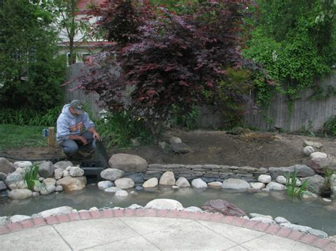 backyard fish pond maintenance pond maintenance contractor services downers grove dupage