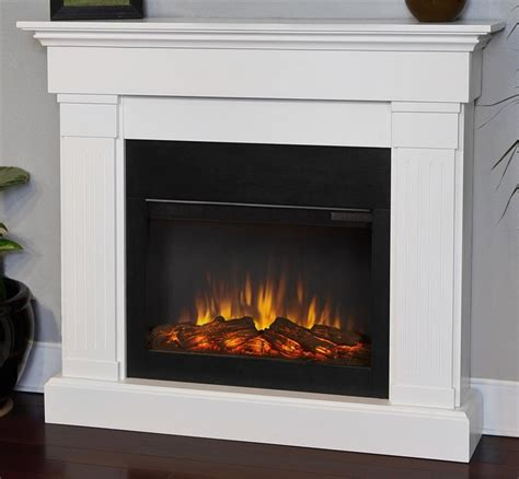 47 4 in electric fireplace in white finish traditional