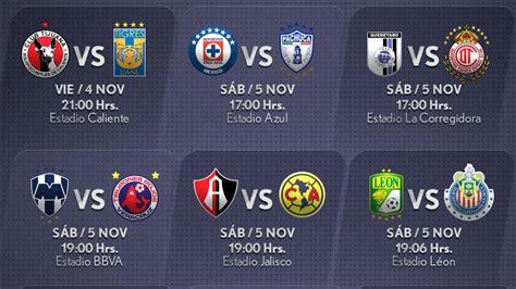 Calendario De Juegos Liga Mx Jornada 16 Resultados De La Liga Mx Jornada 4 2016 Calendar