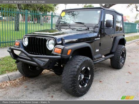 2004 Jeep Wrangler X Specs 2004 Jeep Wrangler X 4x4 In Black Photo No 46126086