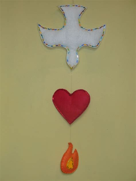 Holy Spirit Craft Made With Felt And Trimmed With