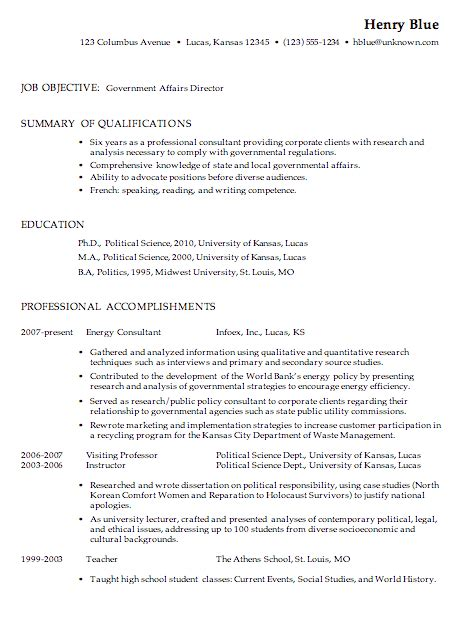 resume objective exles for government jobs resume
