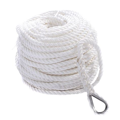 sailboat rope 1 2 quot x200 twisted three strand 6600lbs nylon anchor rope