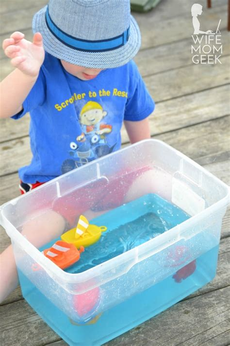 Water Sensory Play With Colored