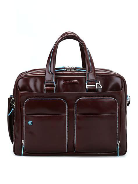 borsa ufficio piquadro borsa marrone in pelle spazzolata piquadro borse da
