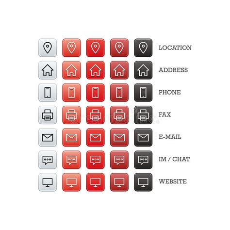 business cards templates icons multipurpose business card set of web icons for business