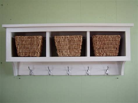 wall shelves with baskets cubby wall shelf country shelf for baskets by appletreewoodcrafts