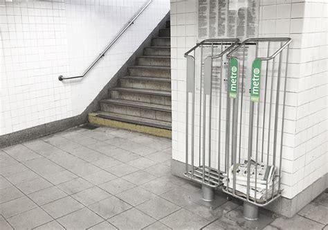 newspaper racks for new york city subway decona