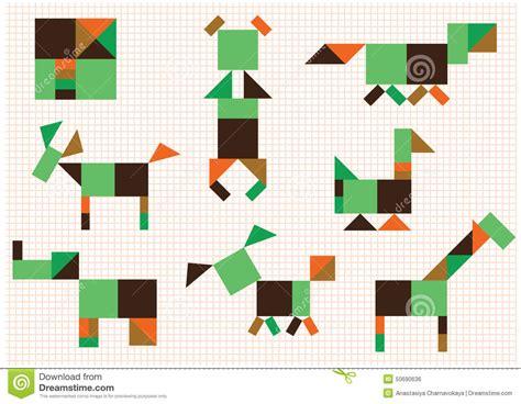 figuras geometricas de animales animales de las figuras ilustraci 243 n del vector imagen