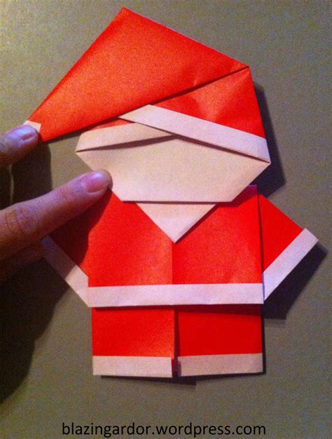 One Fold Origami - origami santa how to guide origami paper origami and