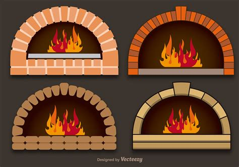 Vector pizza ovens   Download Free Vector Art, Stock