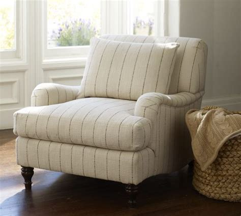 pottery barn carlisle carlisle upholstered armchair down blend wrapped cushions
