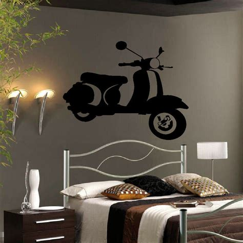 Large Wall Art Stickers large wall art sticker vinyl mod mods scooter uk