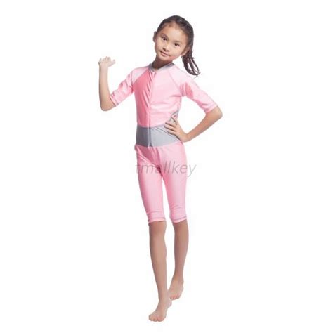 Swm03 Onepiece Yellow Swimsuit Baju Renang modest swimwear swimsuit muslim islamic one swimsuit cover ebay