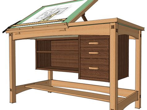 Drafting Table Woodworking Plans Exchanging Components Finewoodworking