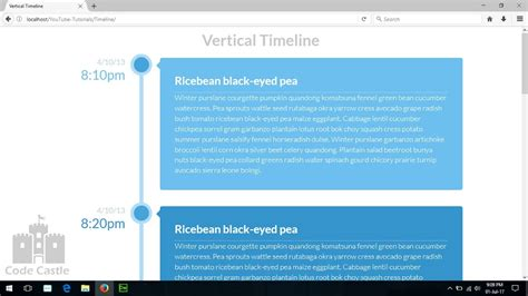 youtube layout timeline vertical timeline using css web design timeline template
