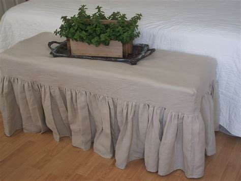 slipcovered bench slipcovered bench 28 images mission slipcovered dual seat dining bench easy bench