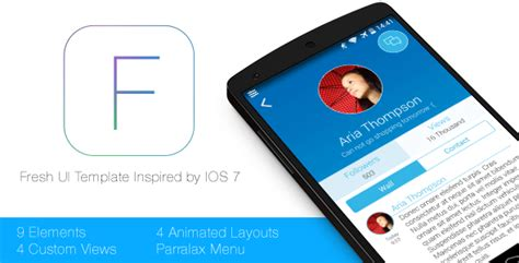 android templates for sale a fresh ui template for android by sherdleapps codecanyon