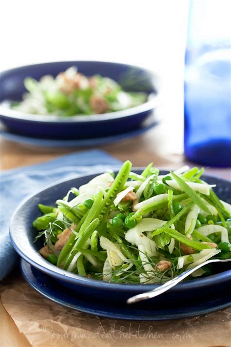 Gourmande In The Kitchen by Sugar Snap Pea And Fennel Salad With Apple Cider